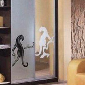 Пескоструйный рисунок на дверках