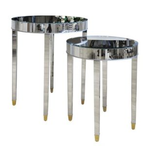Комплект 2 зеркальных стола