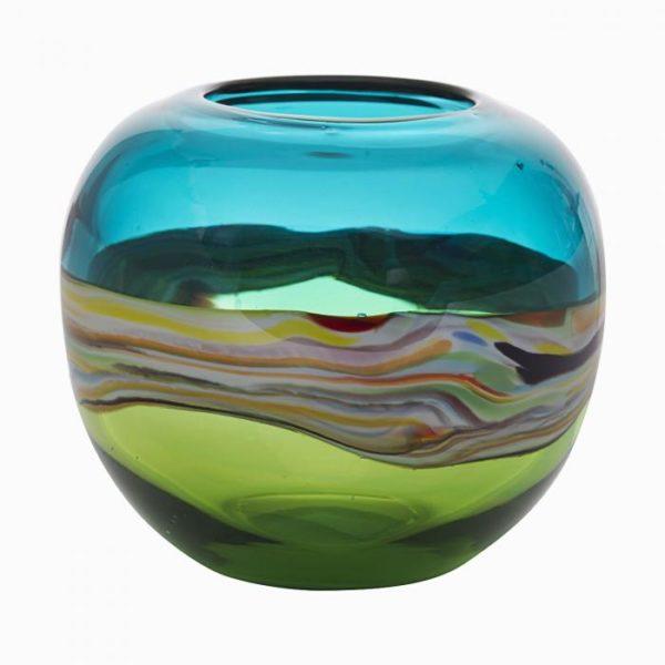 стеклянная ваза (цветная)