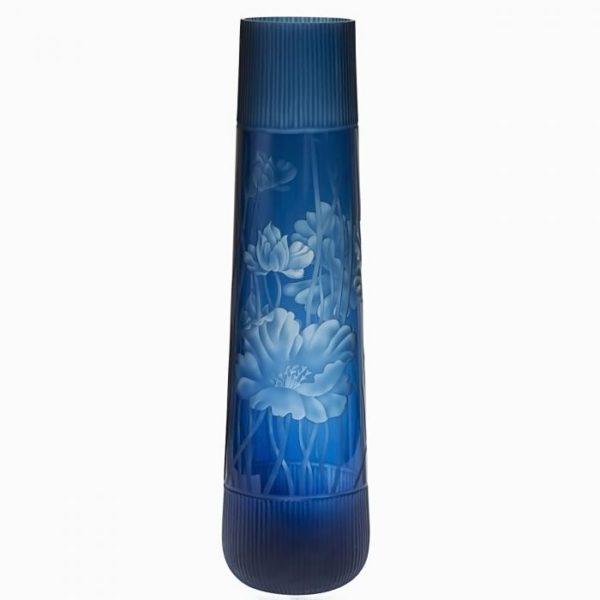 стеклянная ваза (синяя)