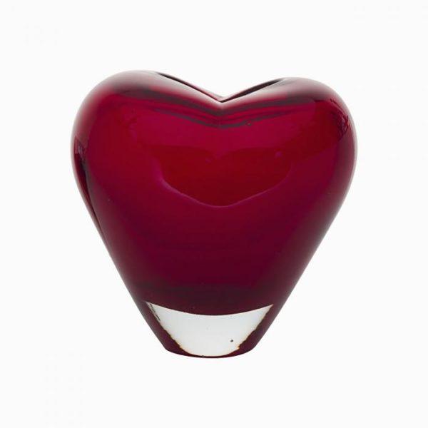 стеклянная ваза (красная)