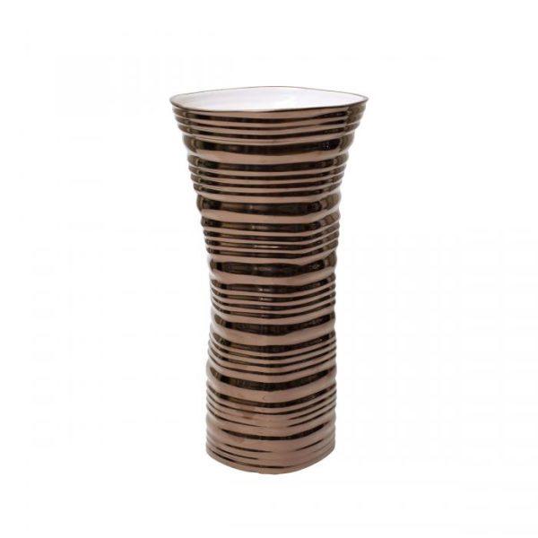 ваза керамическая (цвет золото)
