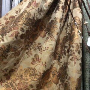 Портьеры - гобелен золотисто-коричневого цвета