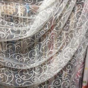 Тюль - вензель серебристо-серый