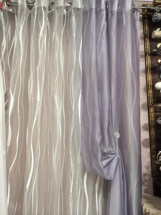 Тюль на люверсах, комбинированный их 2-х цветов