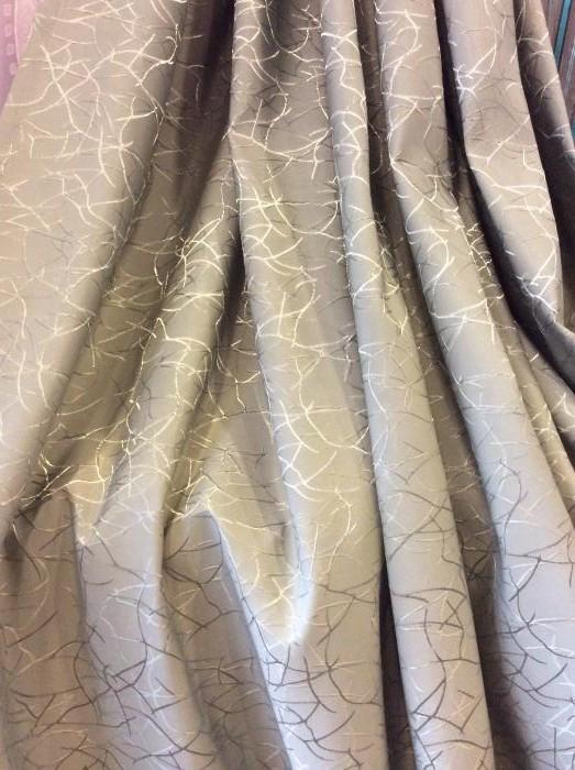 Портьеры - серо-коричневый штрих