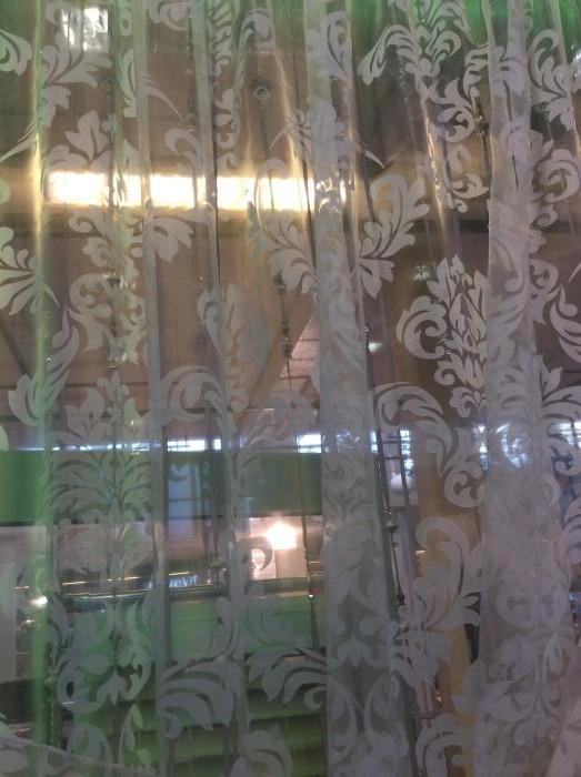 Тюль с вискозой печать дамаск (низ - утяжелитель)