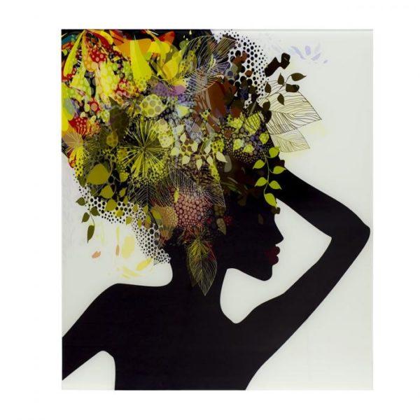 Панно стеклянное женщина